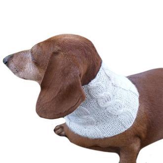 Вязанный шарф снуд для собаки