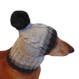 Шапка для собаки,шапка для таксы,одежда для домашних животных