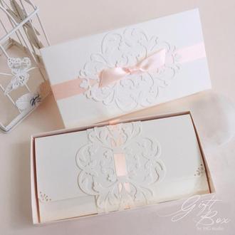"GiftBox ""Pino""  Цвет 8 (персик) - открытка в коробочке"