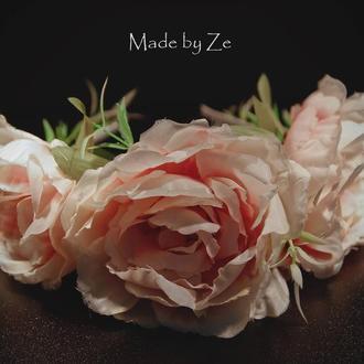 Цветочный обруч ручной работы