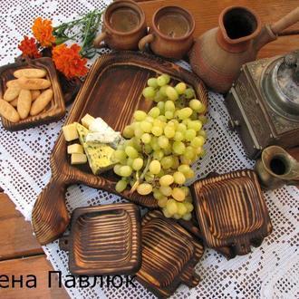 """Деревянная посуда, деревянные тарелки """"Из бабушкиного сундука"""""""