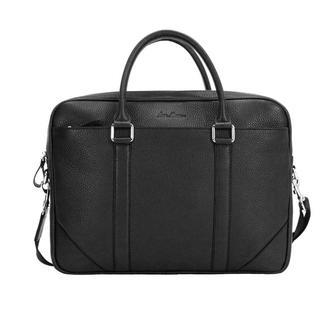Черная кожаная сумка классическая