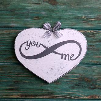 Панно-сердце «Вечная любовь» (gray)