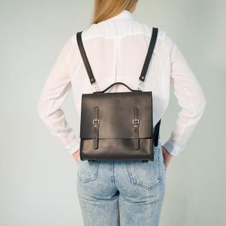 Сумка-рюкзак- портфель HANI из кожи Крейзи Хорс