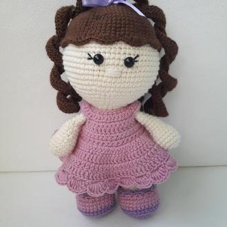 Вязаная кукла. Амигуруми.