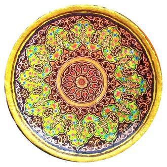 Декоративная тарелка диаметром 42 см «Луч»  трипольской глины станет изысканным