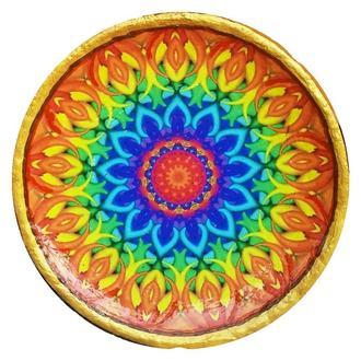 """Декоративная тарелка диаметром 42 см """"Сияние Звезды""""  шамотной трипольской глины станет изысканным"""