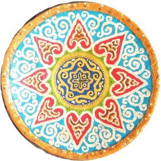"""Блюдо керамика тарелка """"Поэтический день"""" 40-42 см настенная большая"""
