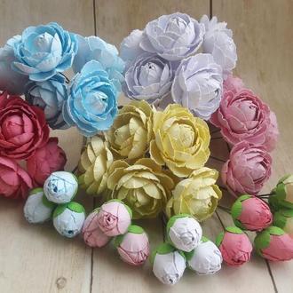 Большой набор роз и бутонов