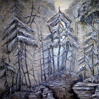 Картина -барельеф « Сумерки »