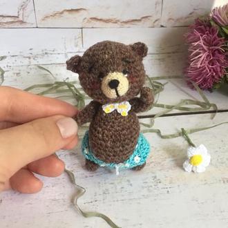 Коричневый мини медвежонок Романтик