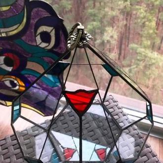 Флорариум геометрический подвесной стеклянный в форме слезы для мини сада