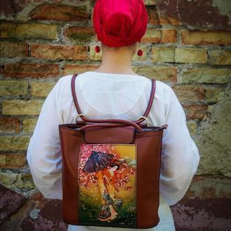 Женский рюкзак,женская сумка-рюкзак, рюкзак-сумка