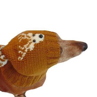 Шапка с оленем для собаки