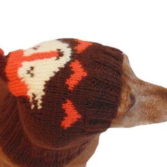 Шапка лиса для собаки