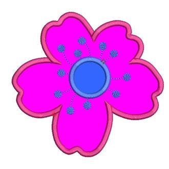 Дизайн машинной вышивки аппликация цветок сакура. Машинна вишивка аплікація сакура