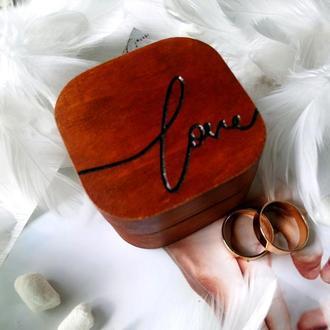 Шкатулка для кольца Love Орех
