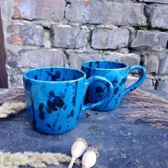 """Набір керамічних чашок """"Морська хвиля"""", 2шт."""
