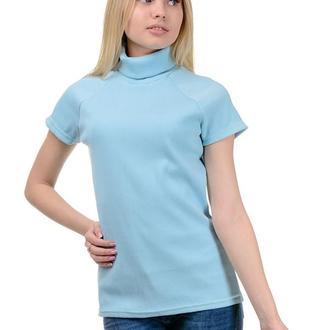 Водолазка жіноча блакитна з коротким рукавом Artystuff