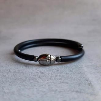 Браслет с кристаллом Swarovski. Браслет - талисман. Подарок девушке. Стильный браслет.
