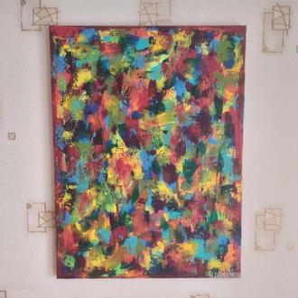 """""""Отражение"""" Картина 100% ручная работа, абстракция, акрил,холст."""