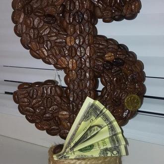 """Кофейный топиарий """"Доллар"""""""