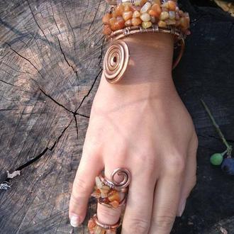 Комплект: браслет и кольцо