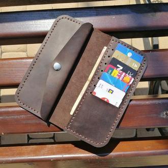 Кожаный кошелек из натуральной кожи  Revier на 14 октября, подарок на день защитника Украины