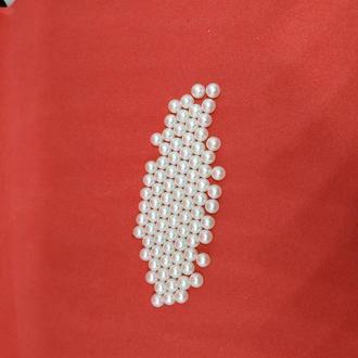 Бусины жемчужные декоративные без отверстия 6 мм