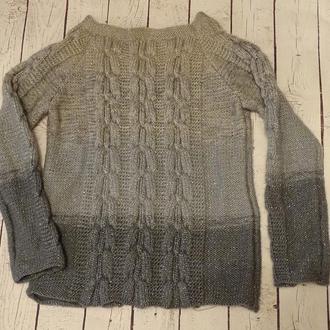женский свитер градиент с люриксом