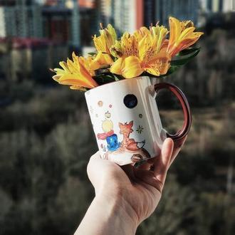 """керамическая чашка с  рисунком """"маленькиий принц!"""""""