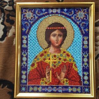 Икона, вышитая бисером «Святой мученицы Надежды»