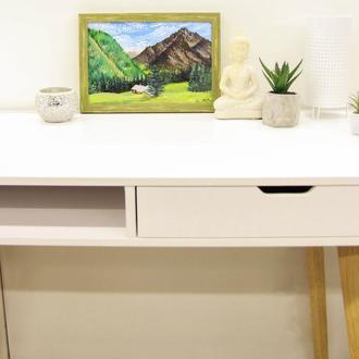 Картина маслом Домик в Альпах Горный пейзаж