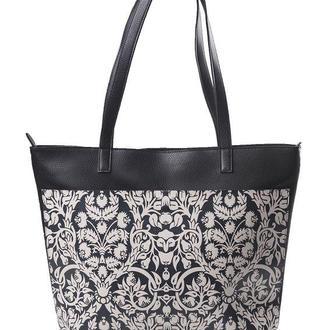 "Женская сумка-шоппер ""Black Floral Pattern"""