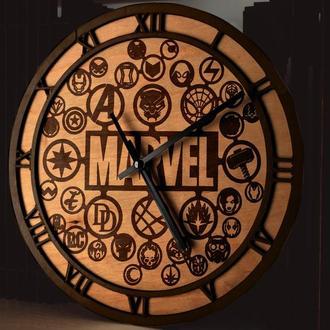Круглые деревянные часы с гравировкой, разные цвета и размеры, принимаем индивидуальные заказы