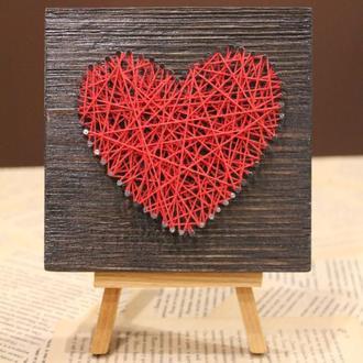 Сердце на мольберте. Подарок на 14 февраля