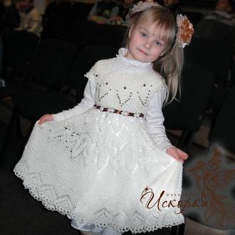 Ажурное детское платье