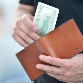 Кожаный кошелек Мужское портмоне Кожаное портмоне