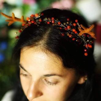 Осенний обруч с рожками