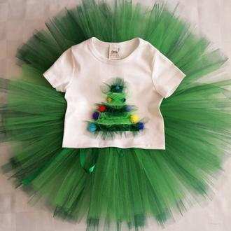 Комплект юбка+футболка