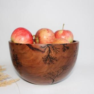 Фруктовниця з дерева, декоративна ваза