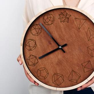 Настенные деревянные часы с гравировкой, разные цвета и размеры, принимаем индивидуальные заказы