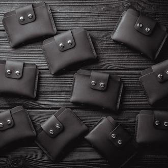 Распродажа до конца сентября кошельков из натуральной кожи в черном цвете, отправка в день заказа