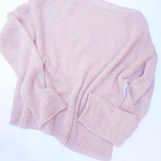 Лёгкий свитер из нежного мохера