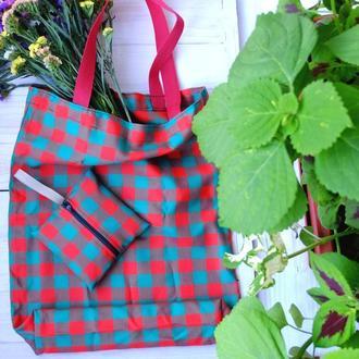 Сумка для покупок с чехлом, эко сумка, хозяйственная сумка,торба, сумка шоппер 23