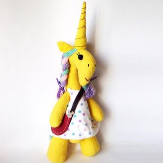 Игрушка желтый Единорог