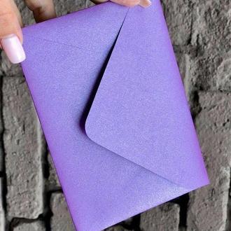Перламутровый конверт С5 крафт