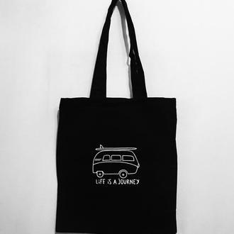 Эко-сумка шоппер «Life is a journey»