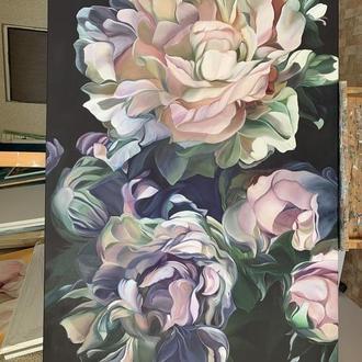 Півонії картина інтер'єр квіти