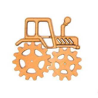 Заготовка Трактор с шестеренками (2шт) для бизиборда Дерев'яний трактор для бізіборда